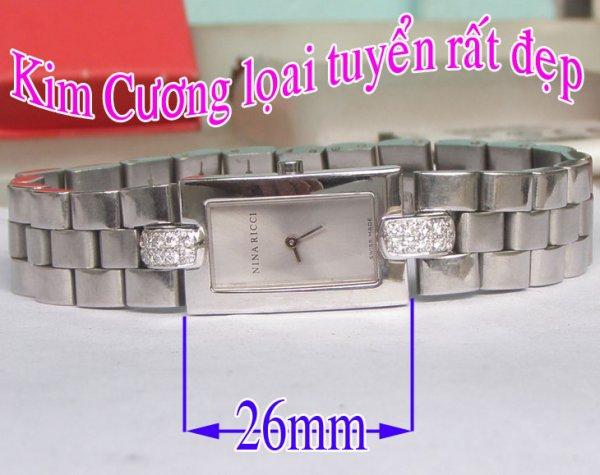 Dong ho Nu Nina Ricci Diamond Quartz