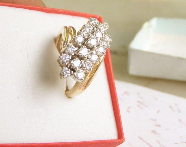 Nhan Nu 14k Gold Diamond CZ Ring made in USA