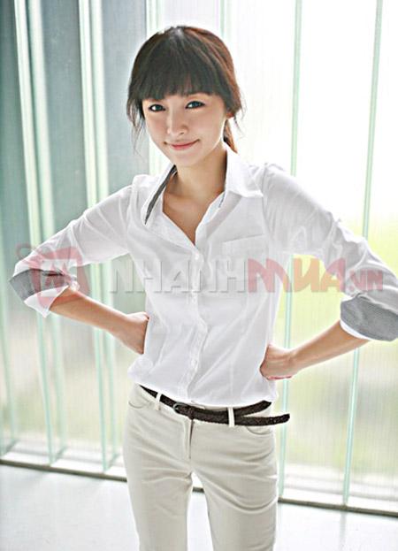 Ao so mi New Style tay dai vien soc Nhanhmua