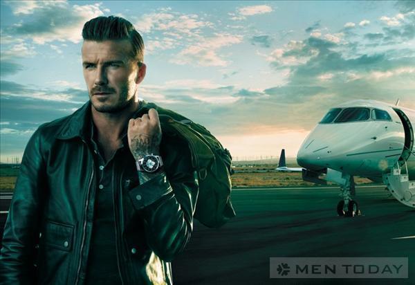 Bo anh David Beckham quang cao dong ho sang trong Breitling