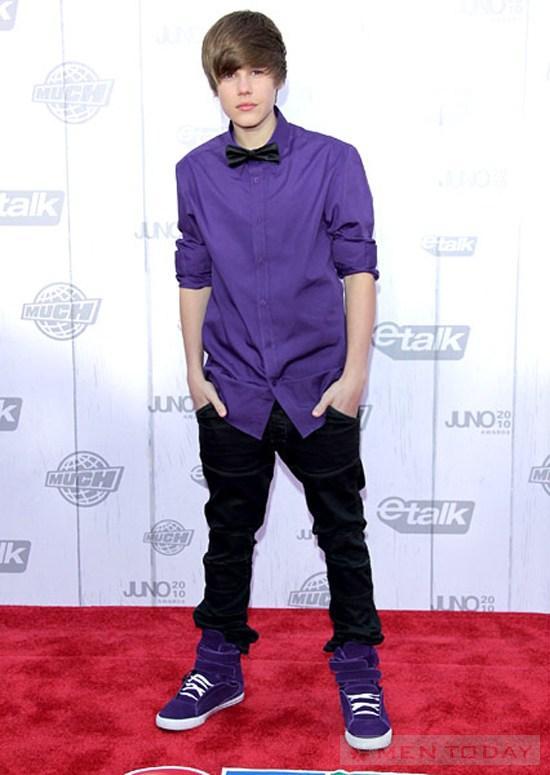 Cung xem Justin Bieber thay doi phong cach theo thoi gian