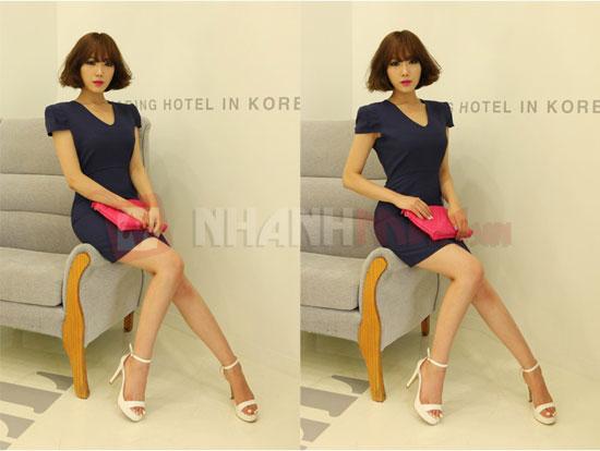 Dam Body cong so SWEET Lady tay cup Nhanhmua