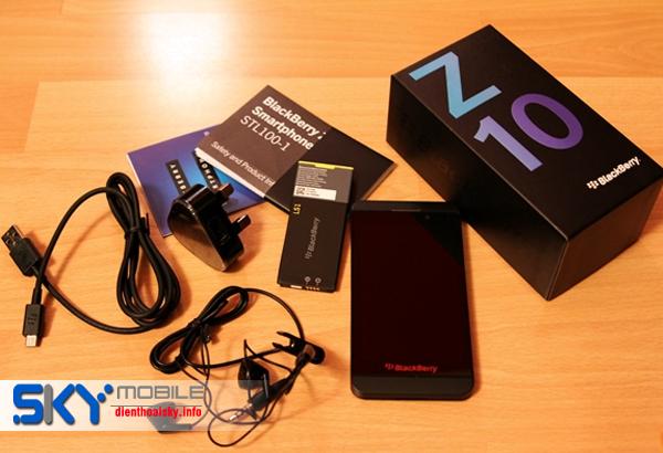 Noi banBlackberry Z10 moi 100 chat luong gia uu dai