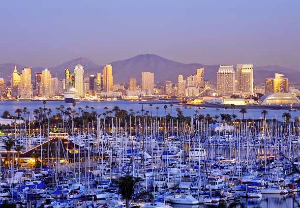 Du lich My voi ve ve may bay di San Diego gia re