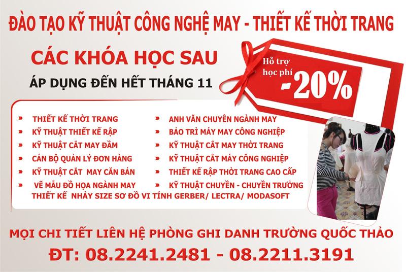 Giam 20 cho lop thiet ke thoi trang tai Hoc vien FDA Sai Gon