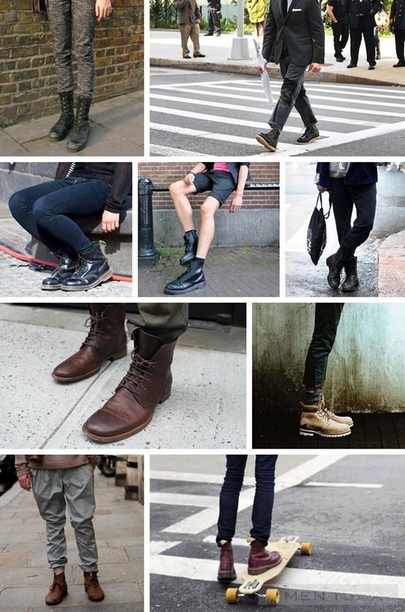 Mix boots va trang phuc cho nam gioi