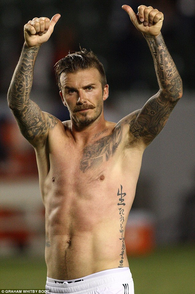 Nhung hinh xam day me hoac cua David Beckham