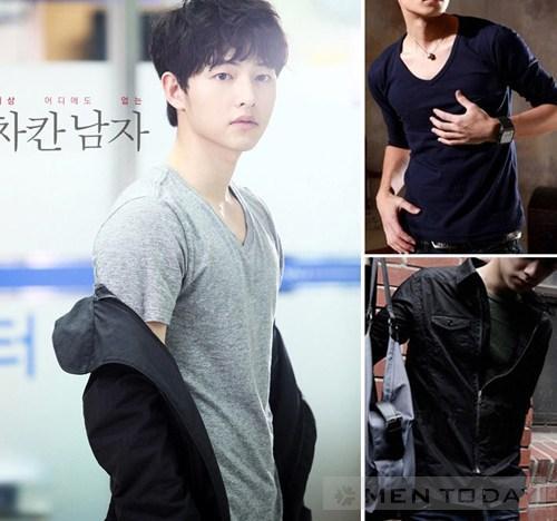 Tham khao cach mix do nam cua Song Joong Ki