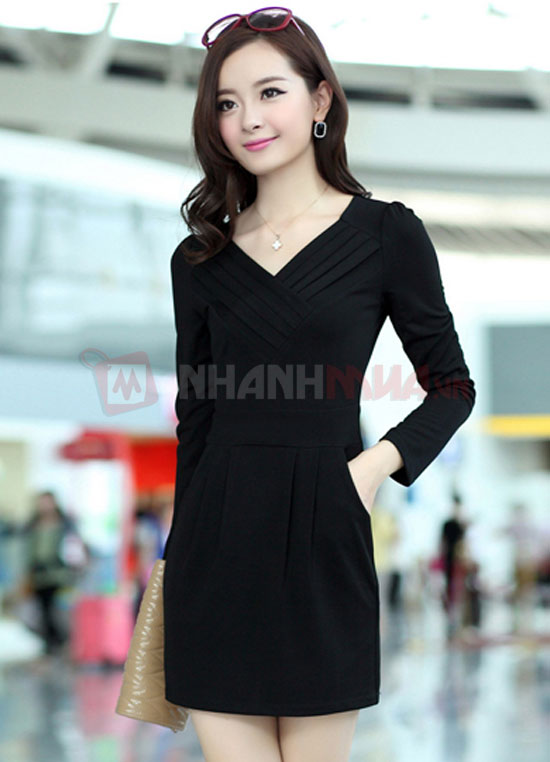 Thanh lich voi Dam Body xep Line co tim Nhanhmua