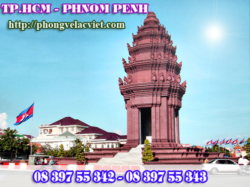 Ve may bay gia re di Phnom Penh