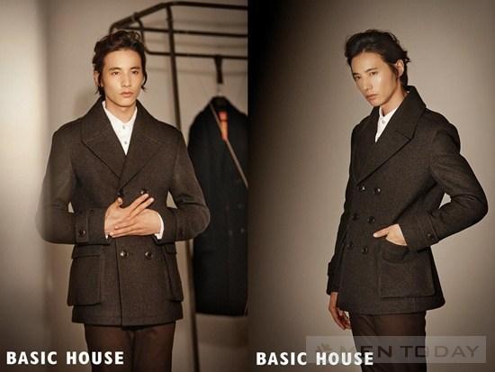 Won Bin lanh lung voi BST thoi trang Basic House